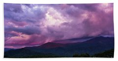 Mountain Sunset In The East Beach Towel