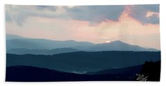 Blue Ridge Mountain Sunset Beach Sheet by Meta Gatschenberger