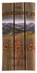 Mountain Top Retreat Beach Towel