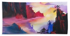 Mountain Top Sunrise Beach Towel