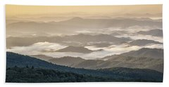 Mountain Valley Fog - Blue Ridge Parkway Beach Sheet