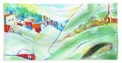 Mountain Village Beach Towel