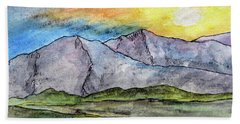 Mountainous Landscape Beach Towel by R Kyllo