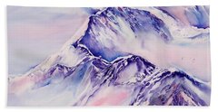 Mountains Above The Clouds No. 2 Beach Towel