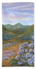 Mountains And Asters Beach Towel