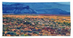 Mountains And Mesas Beach Sheet by Donald Maier
