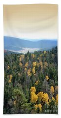 Mountains And Valley Beach Towel by Jill Battaglia