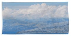 Mountains Far Away  3 Beach Towel by George Katechis
