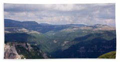 Mountains Of Central Italy Beach Towel by Judy Kirouac