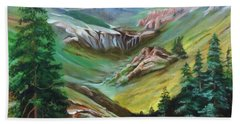 Mountains Of Color Beach Towel