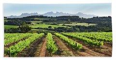 Mountains Of Montserrat Catalunya Beach Towel by Gina Dsgn