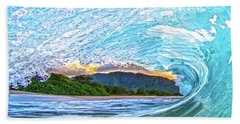 Mountains To The Sea Beach Towel by James Roemmling