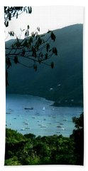 Mountainside Coral Bay Beach Towel by Robert Nickologianis