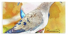 Mourning Dove Pair Poster Image Beach Sheet by A Gurmankin