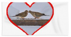 Mourning Doves Kissing Beach Sheet