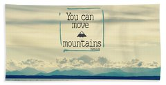 Move Mountains Beach Sheet by Robin Dickinson