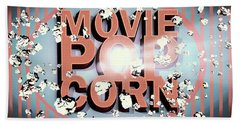 Movie Pop Corn Beach Towel