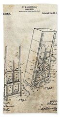 Moving Dolly Patent Beach Towel