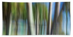 Moving Trees 31 Landscape Format Beach Towel
