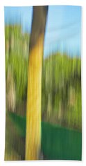 Moving Trees 32 Portrait Format Beach Towel