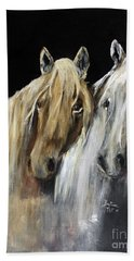 Beach Towel featuring the painting Mozart And The White Wind Horse by Barbie Batson