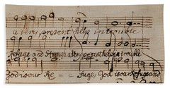 Mozart: Motet Manuscript Beach Towel