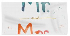Mr And Mrs Beach Towel