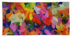 Mr Autumn Meets  Lady Spring - Painting - Wet Paint  Beach Sheet