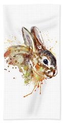 Beach Towel featuring the mixed media Mr. Bunny by Marian Voicu