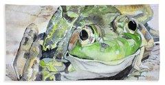 Mr Frog  Beach Towel
