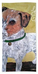 Mr. R. Terrier Beach Towel by Reina Resto