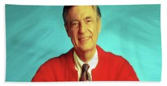 Mr Rogers With Trolley Beach Sheet