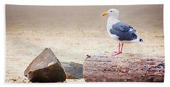Mr. Seagull Beach Towel