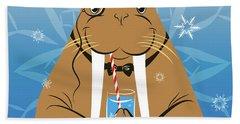 Mr. Walrus Beach Towel