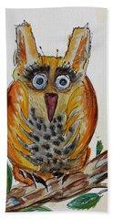 Mr.orange Owl Beach Towel