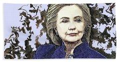 Mrs Hillary Clinton Beach Towel
