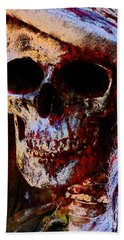 Beach Towel featuring the photograph Ms Skull by Annie Zeno