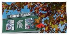 Michigan State Campus - Fall  Beach Towel
