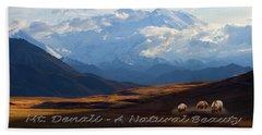 Mt. Denali National Park Beach Towel