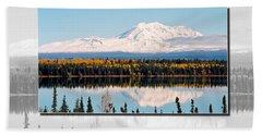 Beach Towel featuring the photograph Mt. Drum - Alaska by Juergen Weiss