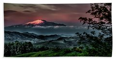 Mt. Etna I Beach Sheet by Patrick Boening