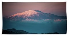 Mt. Etna II Beach Sheet by Patrick Boening