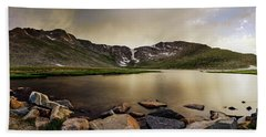 Beach Towel featuring the photograph Mt. Evans Summit Lake by Chris Bordeleau