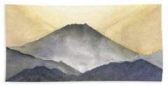 Mt. Fuji At Sunrise Beach Towel