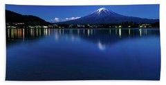 Mt Fuji - Blue Hour Beach Towel