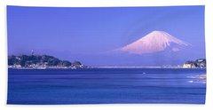 Mt Fuji Kanagawa Japan Beach Towel