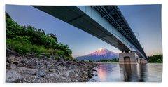 Mt Fuji - Under The Bridge Beach Towel