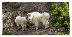 Mt Goat Outing Beach Towel