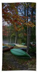 Mt. Gretna Canoes In Fall Beach Sheet