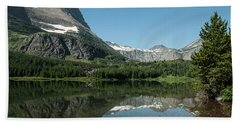 Mt. Grinnell Across Red Rock Lake Glacier National Park Beach Towel